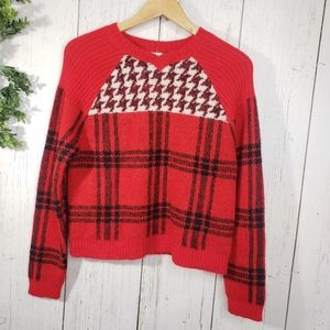 NWT red v neck woolrich sweater